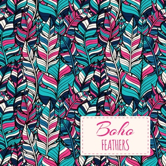 Boho-Stil Muster Design