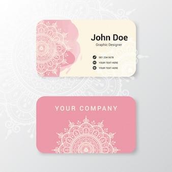 Boho-Stil Visitenkarte Design
