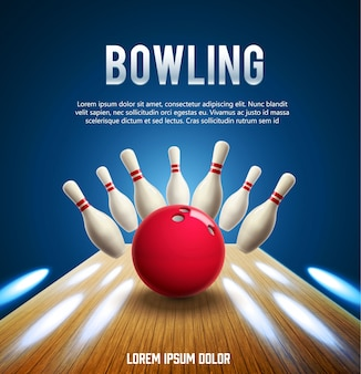 Bowling realistisches Thema eps 10