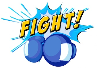 Boxen mit und Wort kämpfen