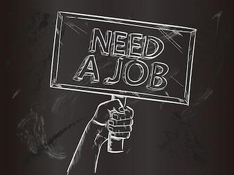 Brauchen Sie einen Job Hintergrund Design