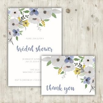 Brautduschen-Briefpapier-Set