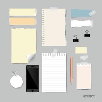 Briefpapierelemente Sammlung