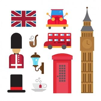 Britische Element Sammlung