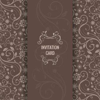 Brown Elegante Einladungskarte