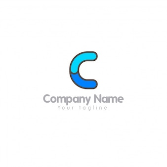 Buchstabe c Logo mit einfachem Design