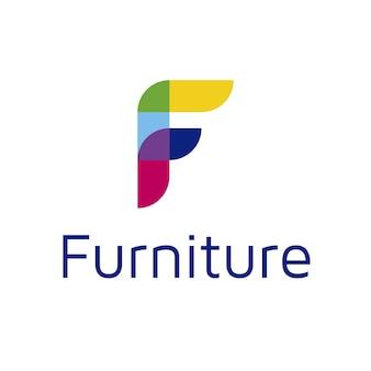 Buchstabe f Logo Design