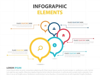 Bunte abstrakte Geschäft Infografische Vorlage