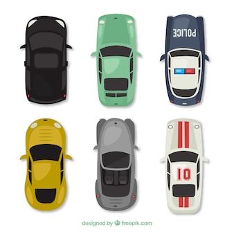 Bunte Autos Sammlung