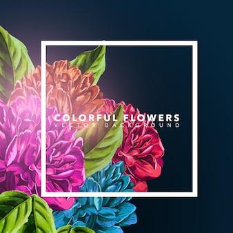 Bunte Blumen Hintergrund