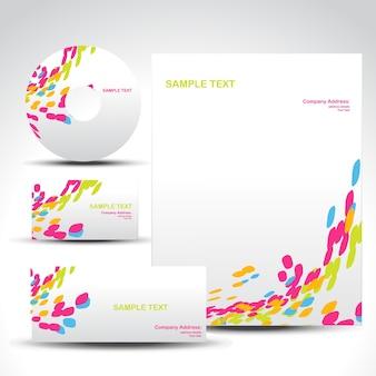 Bunte Briefpapier-Set