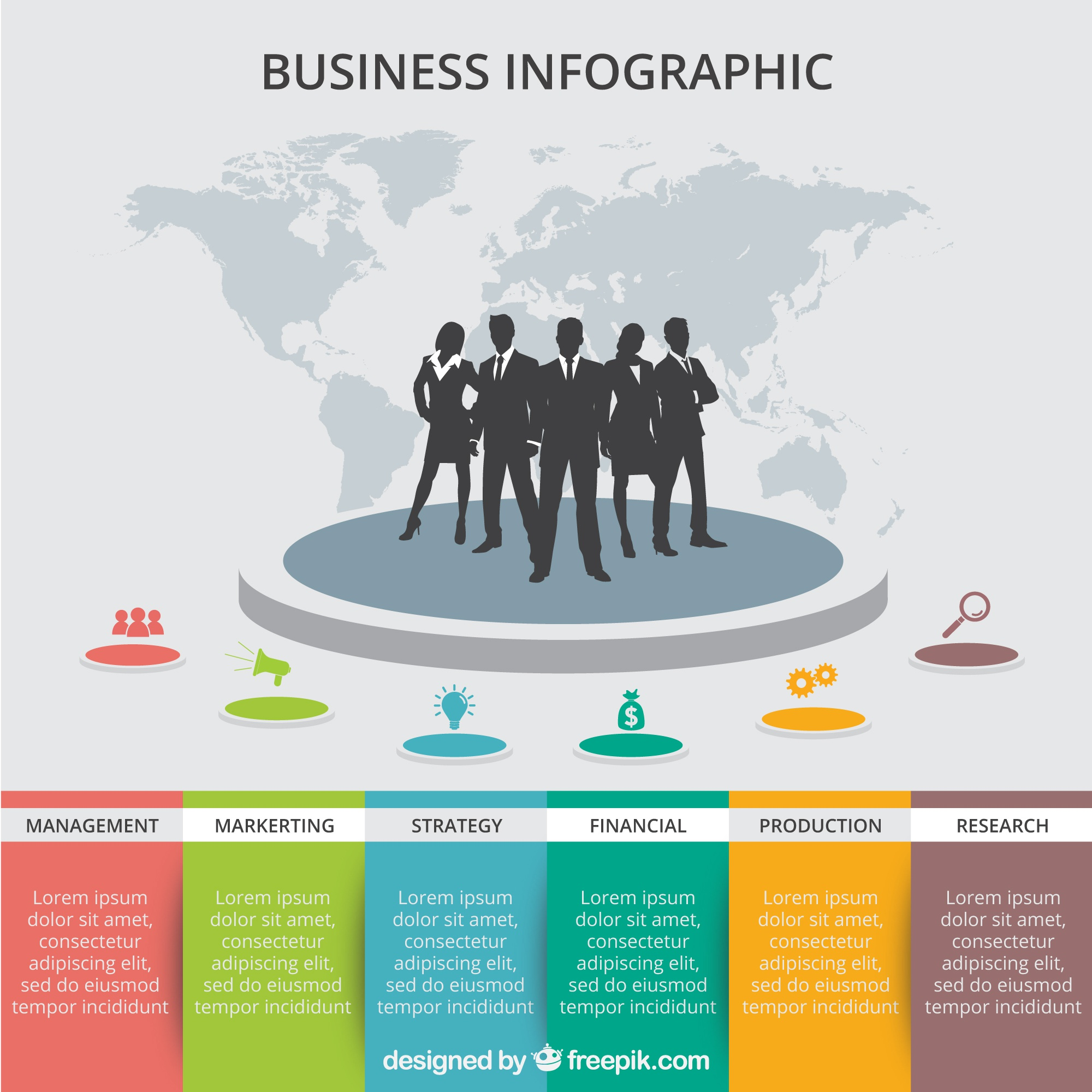 Bunte Business-Infografik