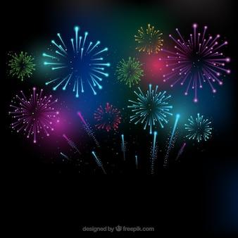Bunte Feuerwerk Hintergrund