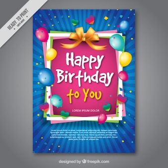 Bunte Geburtstagskarte