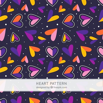 Bunte Herzen Muster