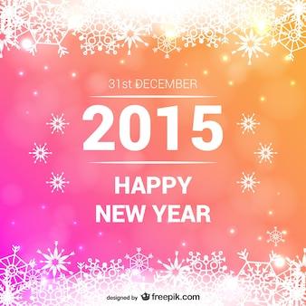 Bunte Karte des neuen Jahres
