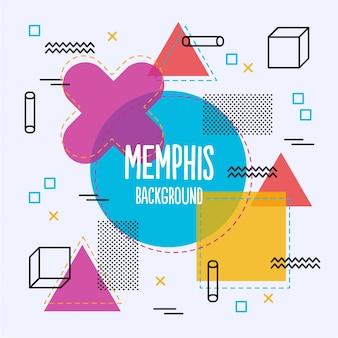 Bunte Memphis Hintergrund