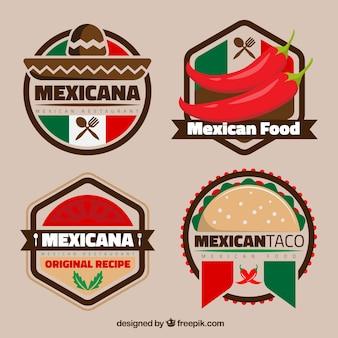 Bunte mexikanische Logos für Restaurants