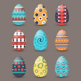 Bunte Ostern Eiersammlung
