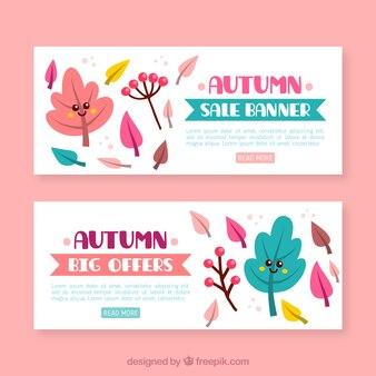 Bunte Pack von Herbst Verkauf Banner