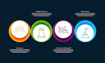 Bunte Roadmap-Timeline Infografik-Layout mit 4 Stufen.