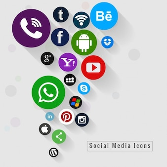 Bunte Social Media Icons Hintergrund