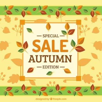 Bunte spezielle Herbst Verkauf Hintergrund