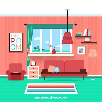 Bunte Wohnzimmer