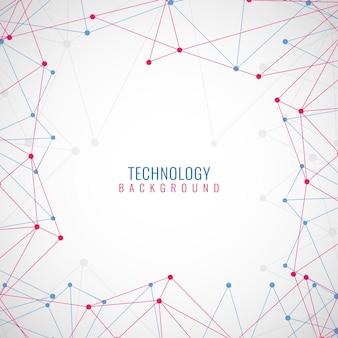 Bunter moderner technologischer Hintergrund