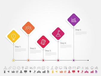 Buntes infografisches Design