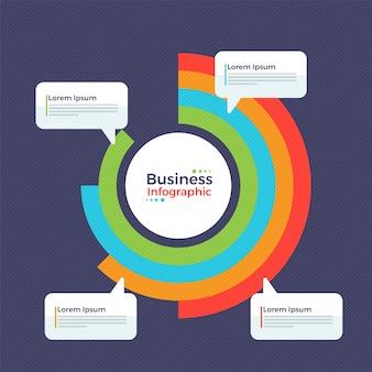Buntes infografisches Element für Business.