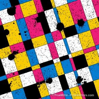 Buntes Mosaik grafischen Hintergrund