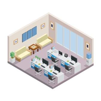 Büro-Draufsicht
