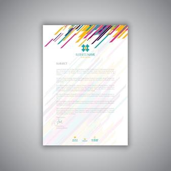 Business Briefpapier Layout modernen Briefkopf Design