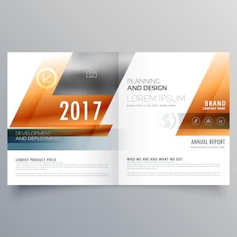 Business-Broschüre Design-Vorlage mit geometrischen Formen