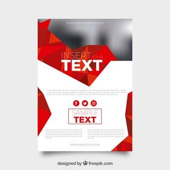 Business-Broschüre mit roten geometrischen Formen