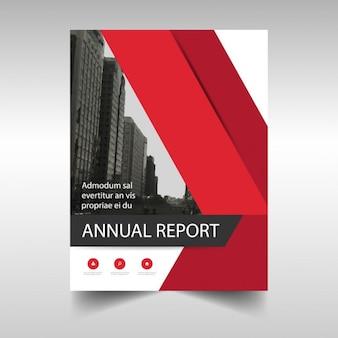 Business-Broschüre, rot
