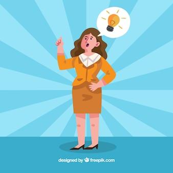 Business-Frau mit einer Idee