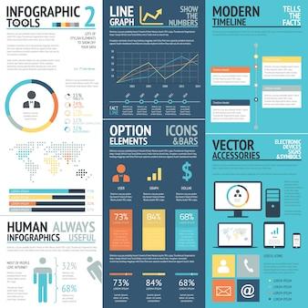 Business-Infografiken Vektor-Elemente in flachen Business-Farben