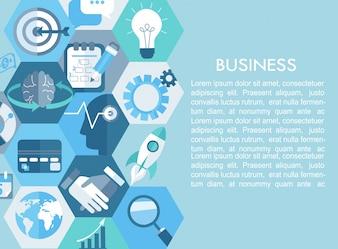 Business-Konzept mit flachen Icons.