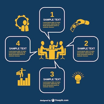 Business-Meeting Infografie