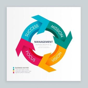 Business Pfeil Infografik-Vorlage
