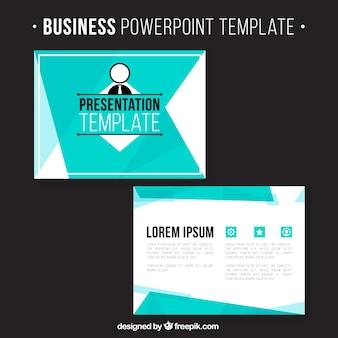 Business-Präsentation mit blauen Formen
