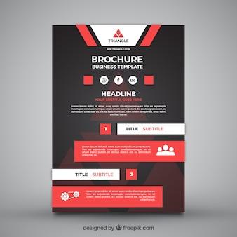 Business-Prospekt-Vorlage mit roten Elementen