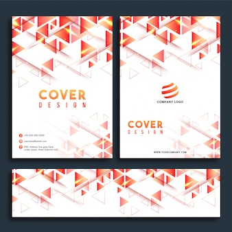 Business Report Cover Design, Broschüre und Web Header Set.