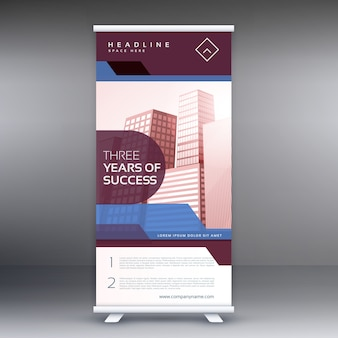 Business-Roll-up Banner Hintergrund Vektor-Design