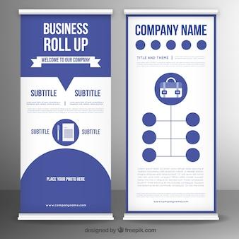 Business Rollup-Vorlage in flachem Design
