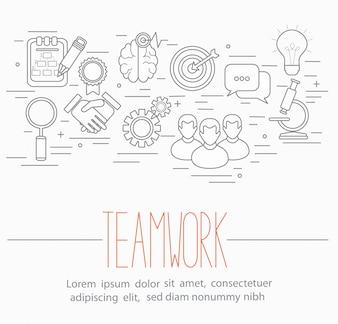Business-Teamwork-Symbole