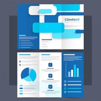 Business Tri-Fold Prospekt, Broschüre Layout.