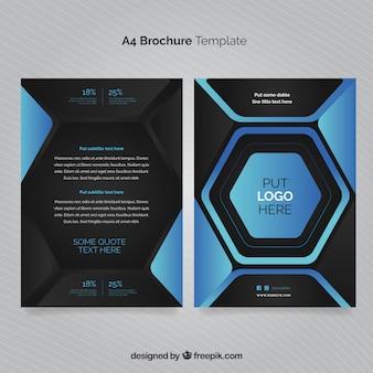 Business-Vorlage mit Hexagon-Design